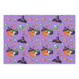 Pumpkin witch hat candy Design Perfect Halloween Wrapping Paper Sheets