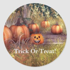 Pumpkins Trick Or Treat Sticker
