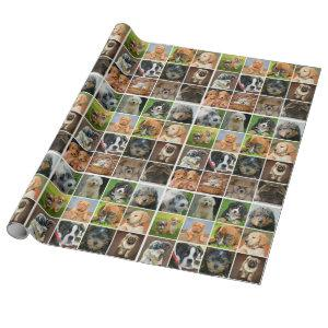 "Puppy Collage Matte Wrapping Paper, 30"" x 6' Wrapping Paper"