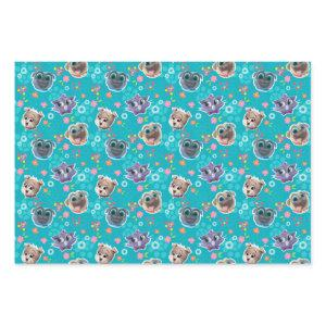 Puppy Dog Pals | Floral Pattern Wrapping Paper Sheets