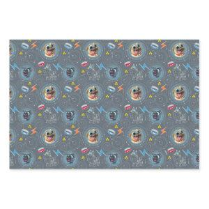 Puppy Dog Pals | Geared for Adventure Pattern Wrapping Paper Sheets
