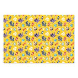 Puppy Dog Pals | Pug Power Pattern Wrapping Paper Sheets