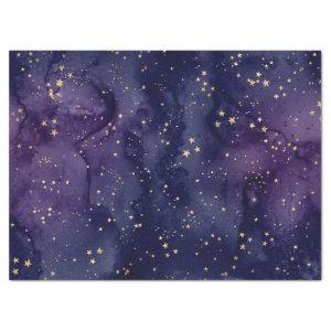 Purple and Blue Galaxy with Stars Decoupage Tissue Paper