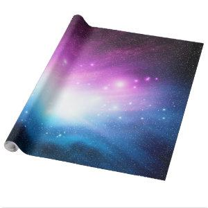Purple and blue Space Galaxy Sky Wrapping Paper