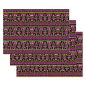 Purple and Gold Art Deco Wrapping Paper Sheets