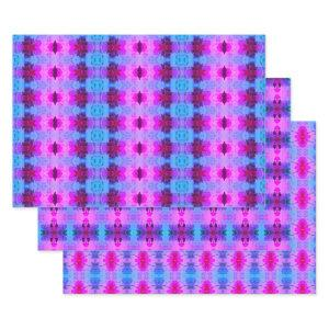Purple and Pink Shelf Liner Or Drawer Liners Wrapping Paper Sheets