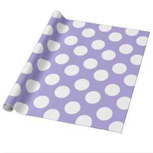 Purple and White Polka Dot Gift Wrapping Paper