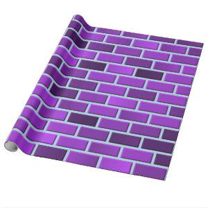 Purple bricks wrapping paper