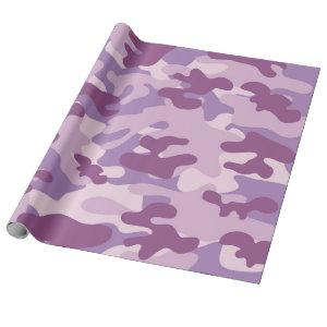 Purple Camo Design Wrapping Paper