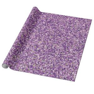 Purple Glitter Glam Faux Wrapping Paper