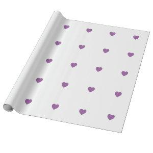 Purple Hearts Wrapping Paper
