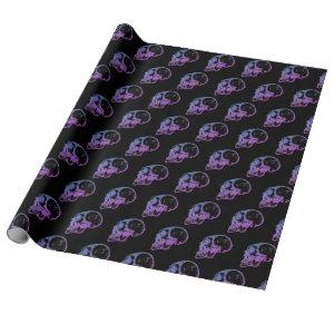 Purple Skull Wrapping Paper