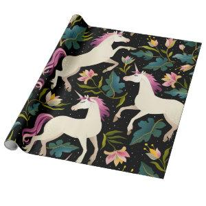 Purple Unicorns Wrapping Paper