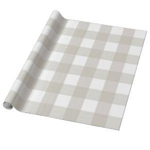 Putty Beige Buffalo Plaid Wrapping Paper