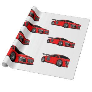 """""""Race car"""" custom wrapping paper"""