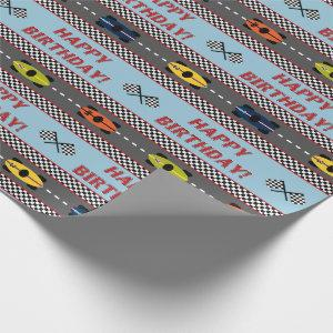 Races Birthday Wrapping Paper