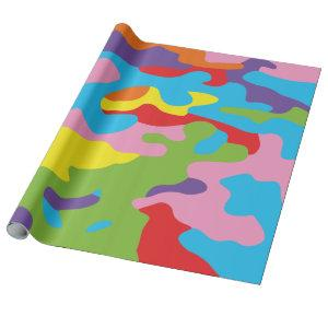 Rainbow camouflage wrapping paper