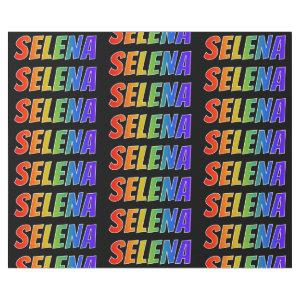 """Rainbow First Name """"SELENA""""; Fun & Colorful Wrapping Paper"""