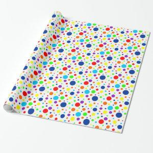 Rainbow Spots Wrapping Paper