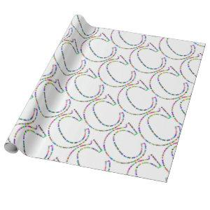 Rainbow Star Letter C Wrapping Paper