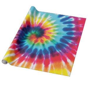 Rainbow Tie Dye Custom Color Wrapping Paper