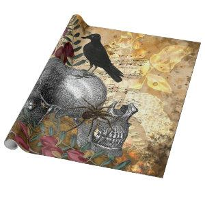 Raven and Skulls Wrapping Paper