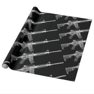 Real HD X-ray image from real AR-15! Wrapping Paper