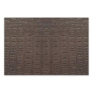 Realistic Brown Alligator Skin Print Wrapping Paper Sheets
