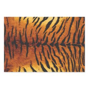 Realistic Tiger Skin Print Wrapping Paper Sheets