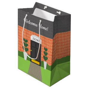 Realtor Welcome Home Brick New Home Gift Bag