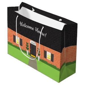 Realtor Welcome Home Brick New Home Large Gift Bag