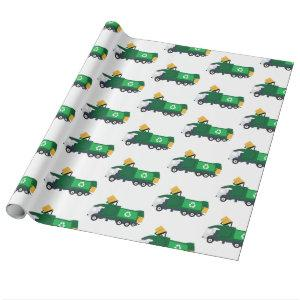Recycling Garbage Truck Wrapping Paper