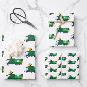Recycling Garbage Truck Wrapping Paper Sheets