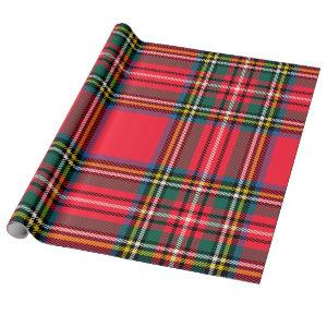 Red and Green Plaid Wrapping Paper
