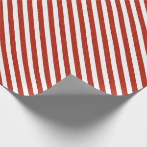 Red and White classic christmas stripes Wrapping Paper