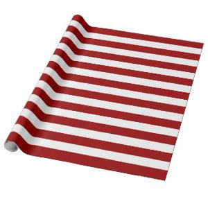Red And White Stripes Elegant Wrapping Paper