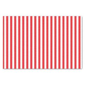 Red and White Stripes Pattern Tissue Paper