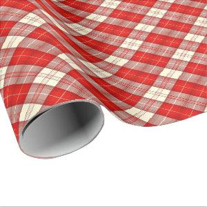 red and white tartan wrapping paper