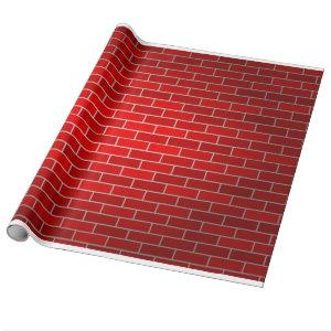 Red Brick Background Wrapping Paper