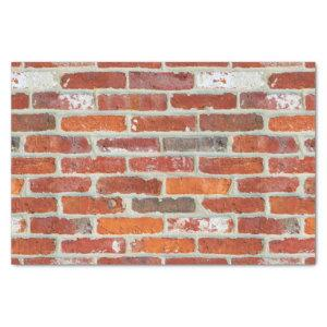 Red Brick Wall Pattern Tissue Paper