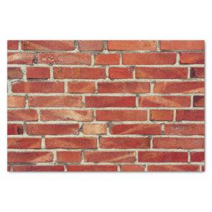 Red Brick Wall Texture Tissue Paper