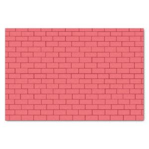 Red Brick Wall Tissue Paper