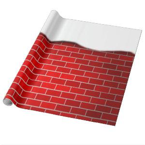 Red Brick with Snow Drift