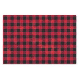 Red Buffalo Check with Wash Texture Tissue Paper