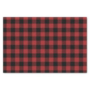 Red Buffalo Plaid Pattern Christmas Gift Tissue Paper