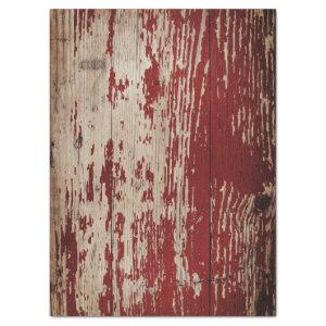 RED CHIPPY AGED BARN WOOD TISSUE PAPER