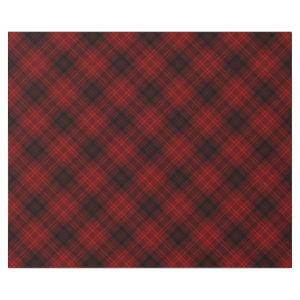 Red Christmas Plaid Wrapping Paper