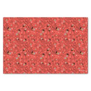 Red Dancing Elmo Pattern Tissue Paper