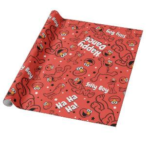 Red Dancing Elmo Pattern Wrapping Paper