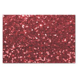 Red Faux Glitter Tissue Paper